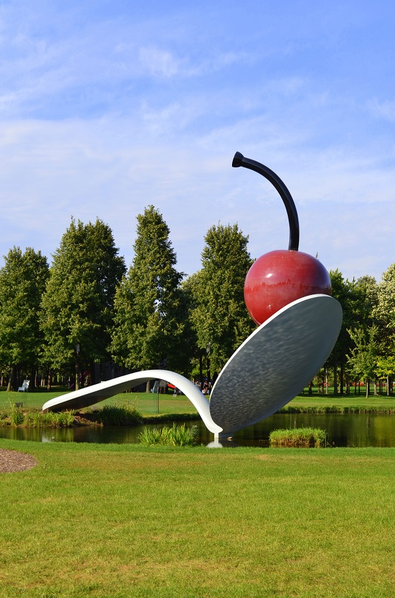 Spoon and Cherry sculpture