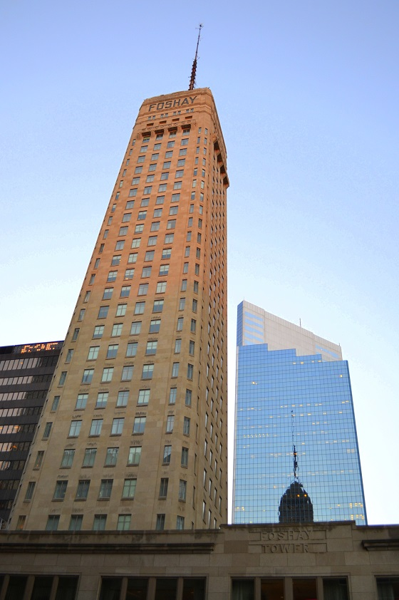 The Foshay at dusk