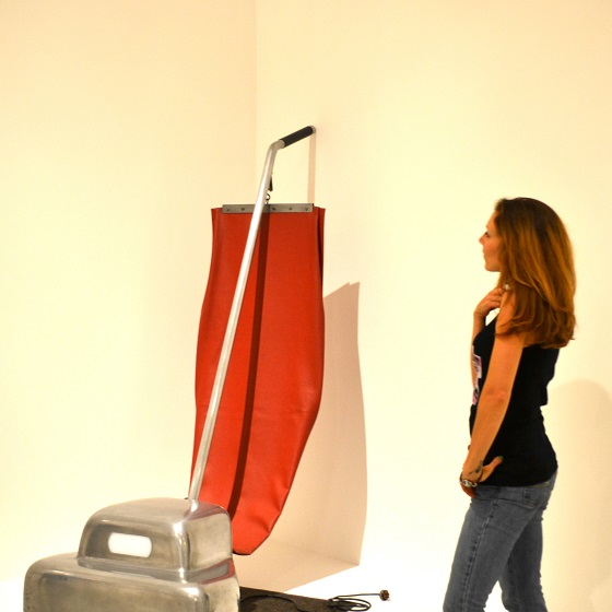 Viewing Claes Oldenburg's Vacuum Cleaner sculpture