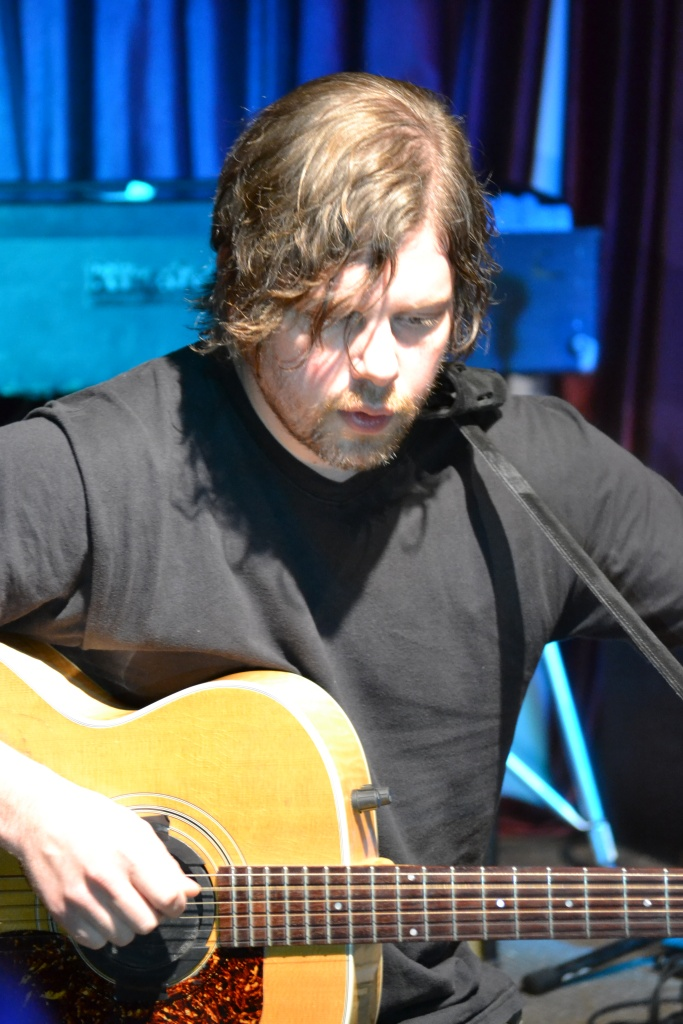 Dax Riggs Tuning His Guitar Pre-Show