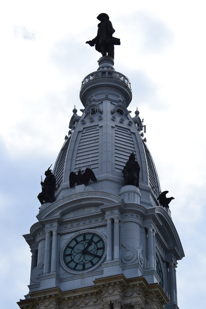 Clock Tower At City Hall