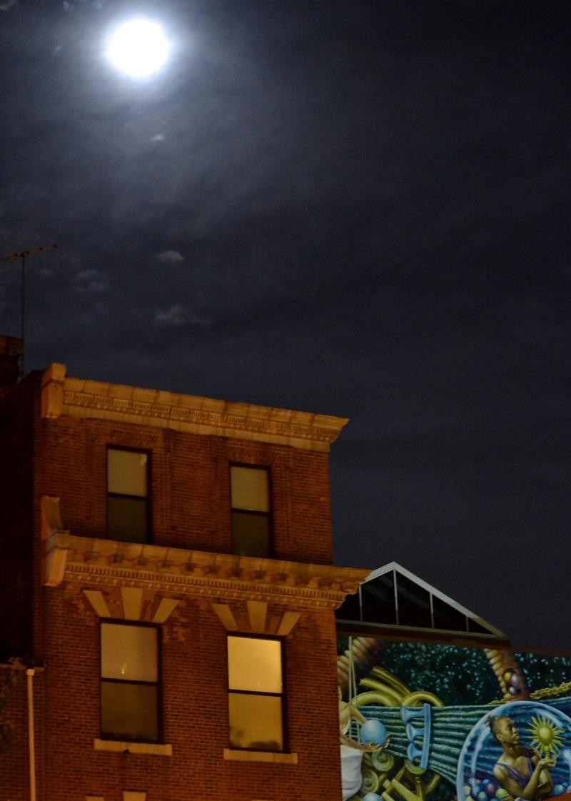 Mural Under Moonlight