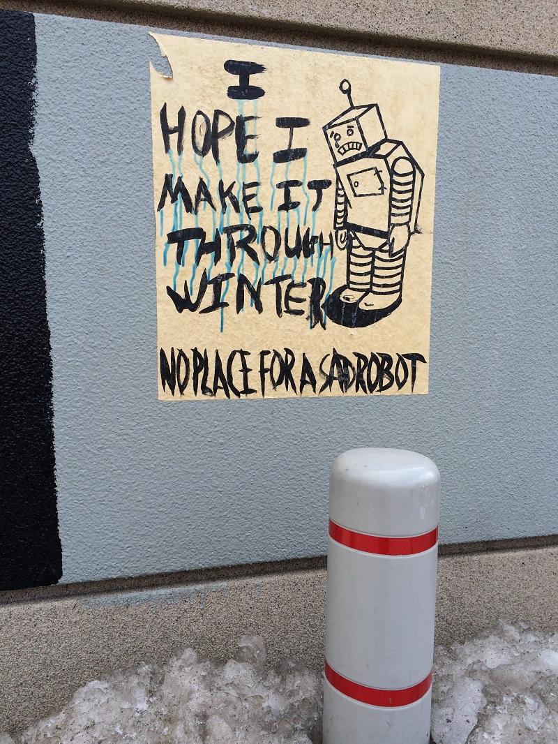 Poor robot.