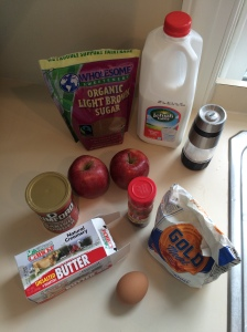 Apple Streusel Coffee Cake Ingredients