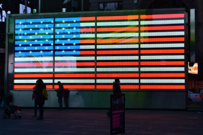 Patriotism in Times Square.