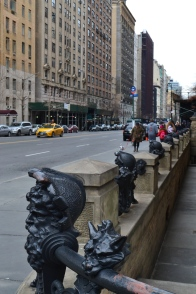 Check out these wrought iron fence sculptures!